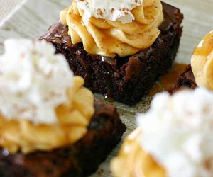 food, brownies, and dessert image