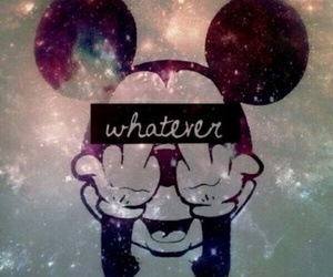 whatever, mickey, and galaxy image