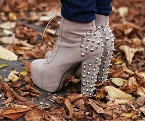 fall, leather, and shoes image