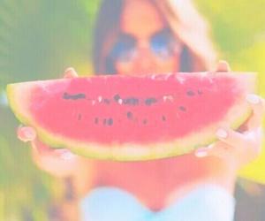 bikini, food, and watermelon image