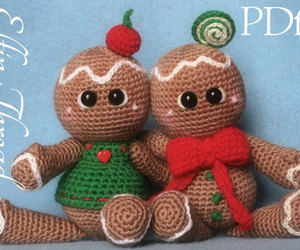 gingerbread man, christmas decor, and crochet pattern image
