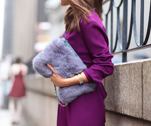 bag, purple, and style image
