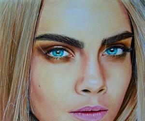 cara delevingne, drawing, and girl image