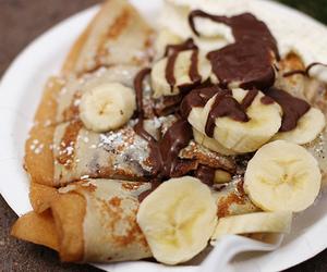 food, banana, and chocolate image