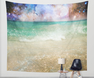 beach, magical, and tapestry image
