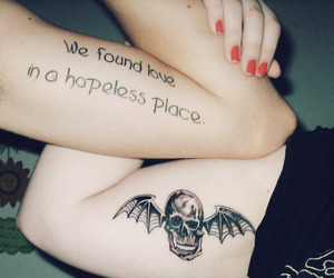 avenged sevenfold and tattoo image
