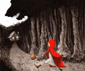 wolf and little red riding hood image