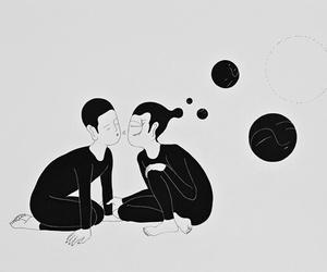 art, illustration, and black and white image