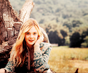 Elle Fanning, laugh, and smile image