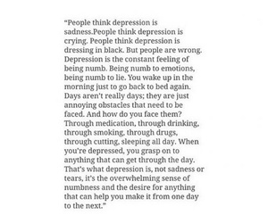 depression, quotes, and sadness image