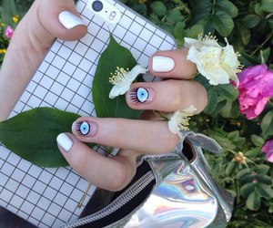 accessories, eyes, and flowers image