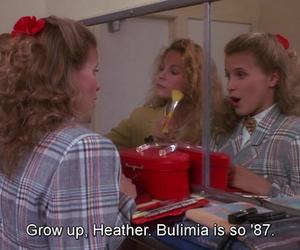 Heathers, bulimia, and movie image