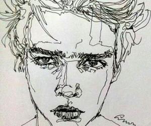 arte, hombre, and dibujo image