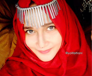headpiece, beautyhijab, and hijabselfi image