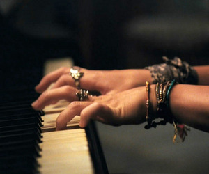piano, the last song, and miley cyrus image