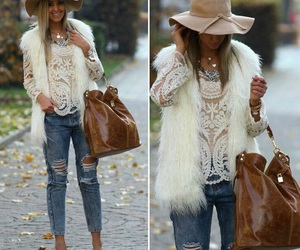bag, blouse, and heels image