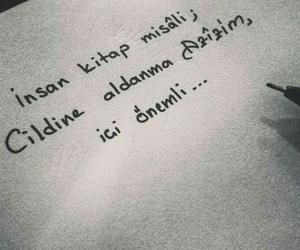 insan, kitap, and türkçe sözler image