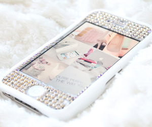 iphone, white, and girly image