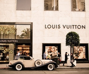 Louis Vuitton, car, and vintage image