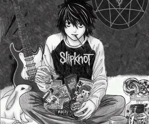 L, death note, and nirvana image