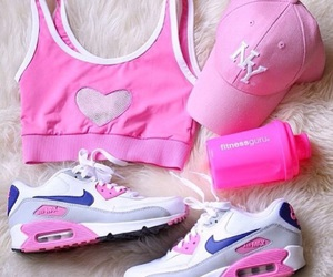 pink, nike, and summer image