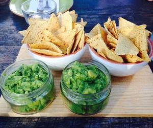 food, nachos, and guacamole image