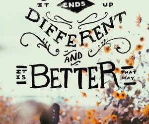 quote, better, and different image