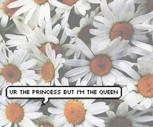 Queen, flowers, and princess image