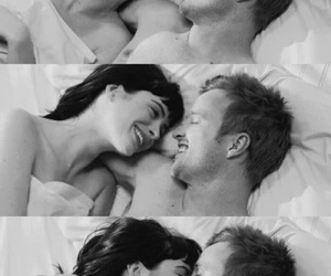 black and white, fall in love, and hug image