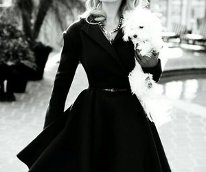 dress, katherine heigl, and black and white image