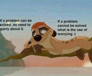 problem, quote, and worry image