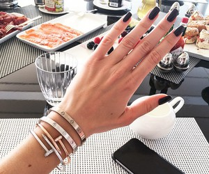 nails, bracelet, and style image