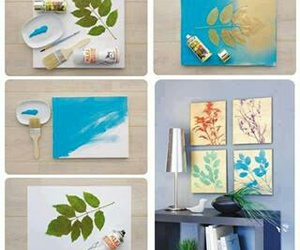 diy, leaves, and paint image