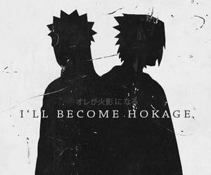 naruto, sasuke, and hokage image