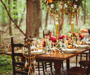 bohemian, boho, and wedding image