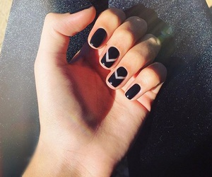 beautiful, black nails, and hands image