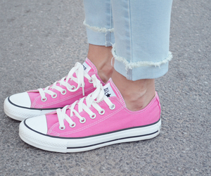 converse, pink, and fashion image