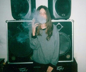 girl, smoke, and hipster image