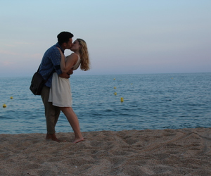 beach, couple, and great image