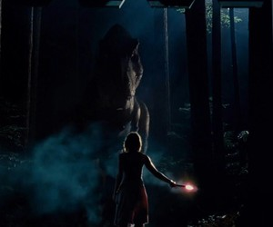 Claire, dinosaur, and flare image