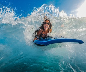 adventure, smile, and surf image