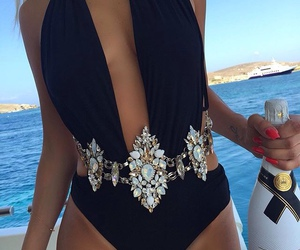 summer, luxury, and black image