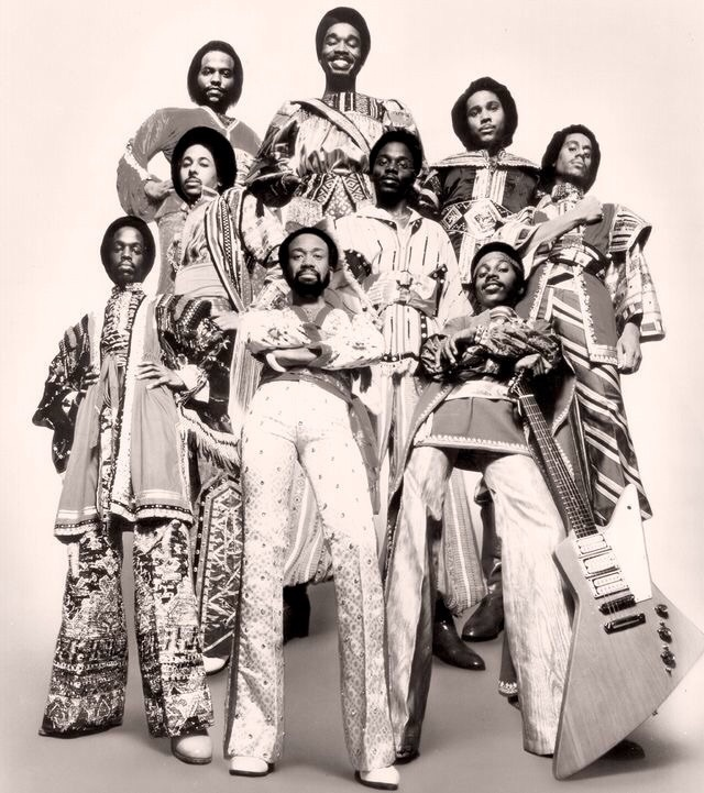 black&white and earth wind and fire image