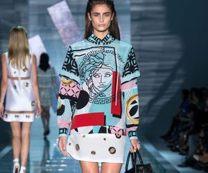 outfit, Versace, and taylor hill image