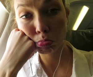 airplane and Karlie Kloss image
