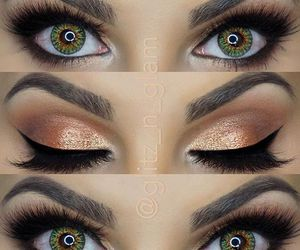 make up, eyeshadow, and eyebrows image