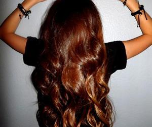hair, brunette, and pretty image