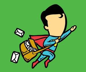 superman, funny, and job image