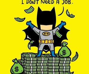 batman, money, and job image