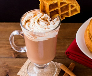 drink and waffle image
